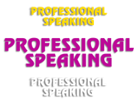 Professional Speaking